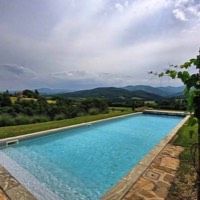 Poggiodoro, spectacular Tuscan charm, views from the pool