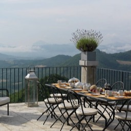 La Taverna al Monte: Dining with fabulous views to admire
