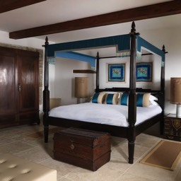 La Taverna al Monte: Luxurious bedroom four poster bed