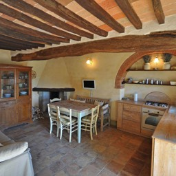 La Tinaia: The kitchen / dining area in the well equipped and traditionally restored Tuscan house