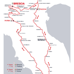 Mille Miglia 2017, Italy, The route